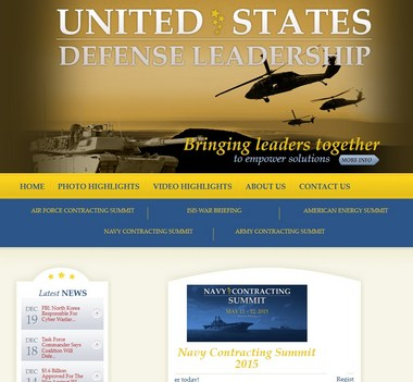 A screen shot from DefenseLeadership.org. Courtsey DefenseLeadership.org