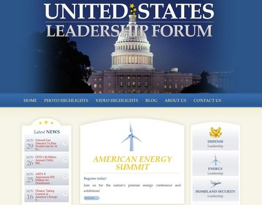 A screen shot from the United States Leadership Forum web site from Jan. 5, 2015. Courtesy United States Leadership Forum